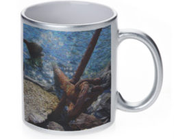 Anchor in Water - 11 oz. Silver Sparkle Coffee Mug