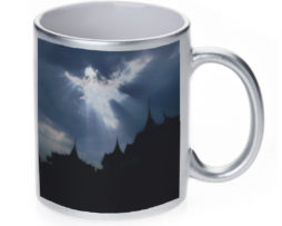 Angel Light In The Clouds - 11 oz. Silver Sparkle Coffee Mug