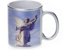 Angel Of Waverly Cemetery - 11 oz. Silver Sparkle Coffee Mug