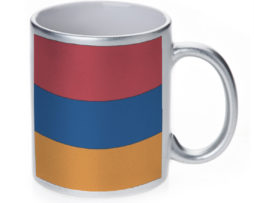 Armenia Flag - 11 oz. Silver Sparkle Coffee Mug