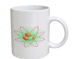 Atom Orange And Green - 11 oz. White Coffee Mug