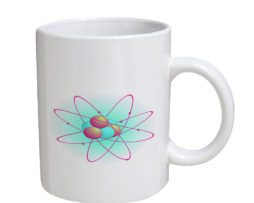 Atomic Particle - 11 oz. White Coffee Mug