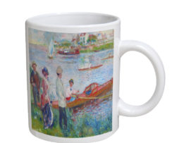 Auguste Renoir Oarsmen At Chatou - 11 oz. White Coffee Mug