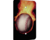 Baseball With Flames - 1 Gang Blank Wall Plate Cover