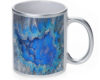Geode Crystal Azure - 11 oz. Silver Sparkle Coffee Mug
