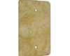 Gold Travertine - 1 Gang Blank Wall Plate Cover