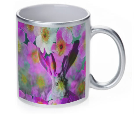 Jack Rabbit - 11 oz. Silver Sparkle Coffee Mug