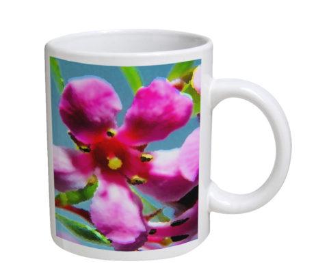 Orchid Pink - 11 oz. White Coffee Mug
