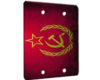 Soviet Flag Grunge - 2 Gang Blank Wall Plate Cover