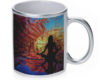 Yoga Beach - 11 oz. Silver Sparkle Coffee Mug