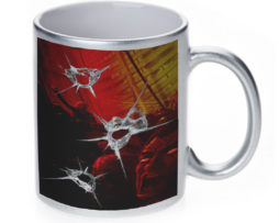 Zombie Gun Shoot - 11 oz. Silver Sparkle Coffee Mug