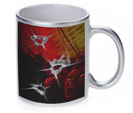 Zombie Gun Shoot - 11 oz. Silver Sparkle Coffee Mug