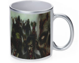 Zombies - 11 oz. Silver Sparkle Coffee Mug