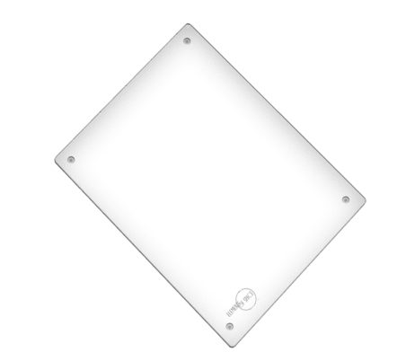 Weighs And Crossbones Fire Skull - Glass Cutting Board